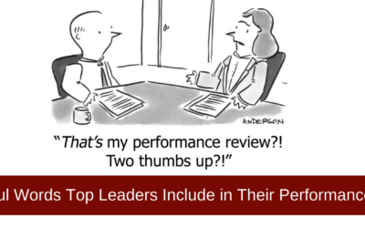 Performance Review – 3 Powerful Words Which Influence Results
