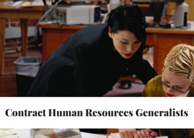 Contract Human Resources Generalist Pool