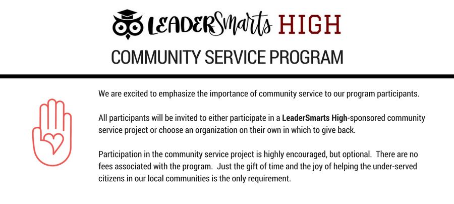LeaderSmarts High Community Service Program