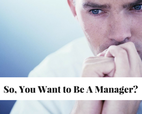 So, You Want To Be A Manager